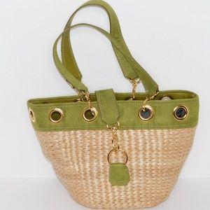 Amanda Smith Straw Handbag